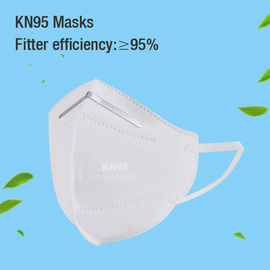 White Color Anti Virus KN95 Face Mask FFP2 5 Layers 95% Efficiency Easy Degradation
